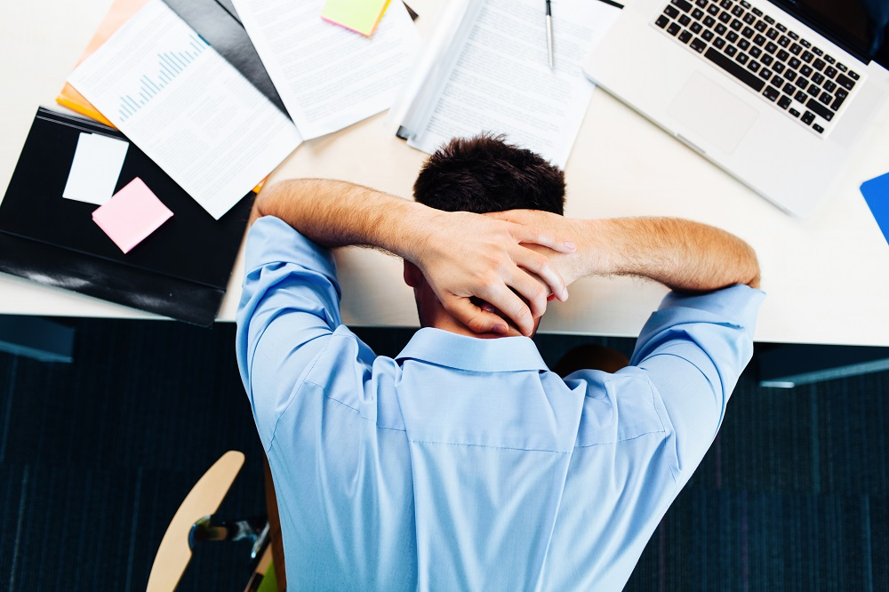 Image of overworked businessowner
